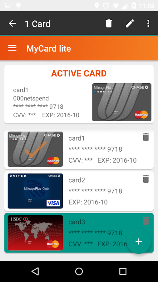 MyCard lite Screenshot 5