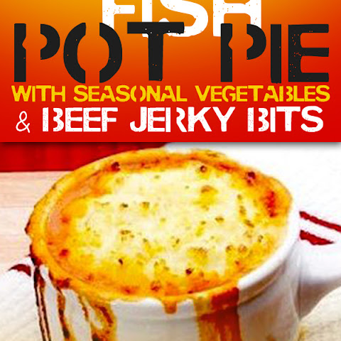 Fish Pot Pie With Seasonal Vegetables & Beef Jerky Bits