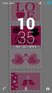 Heart-xperia-theme - screenshot