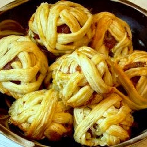 Meat Glomeruli In Puff Pastry