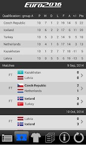 LiveScore Euro 2016 Screenshot