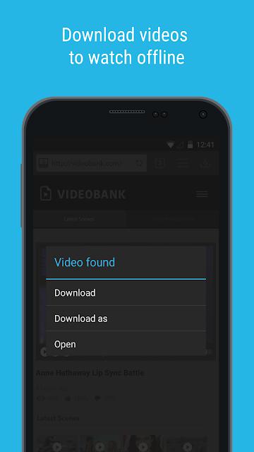 Downloader & Private Browser screenshots
