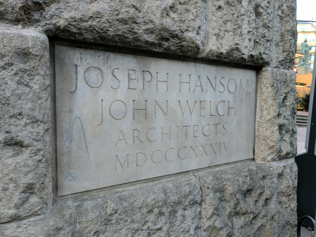 JOSEPH HANSOM JOHN WELCH ARCHITECTS MDCCCXXXIV Submitted by @caddickbrown