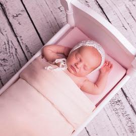 Mama's Doll by Nicole Ferris - Babies & Children Babies ( babygirl, girl, wood, bonnet, baby, newborn )