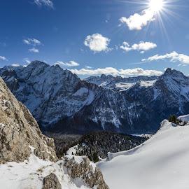 Pardoi Passo by Marcin Frąckiewicz - Landscapes Mountains & Hills ( mountains, blue sky, italy )