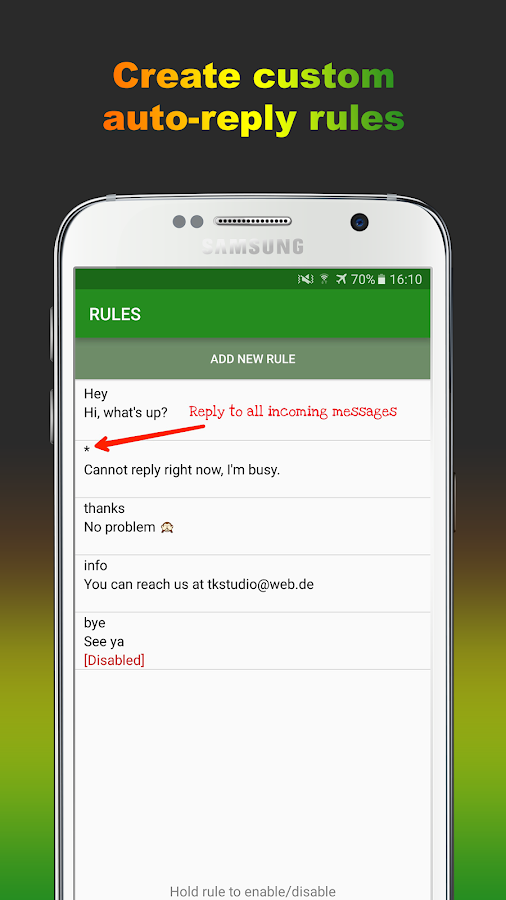 AutoResponder for WA Pro Screenshot 2