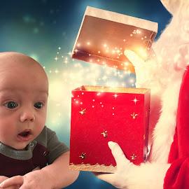 Surprise it's Santa by Theresa  Floyd - Babies & Children Child Portraits