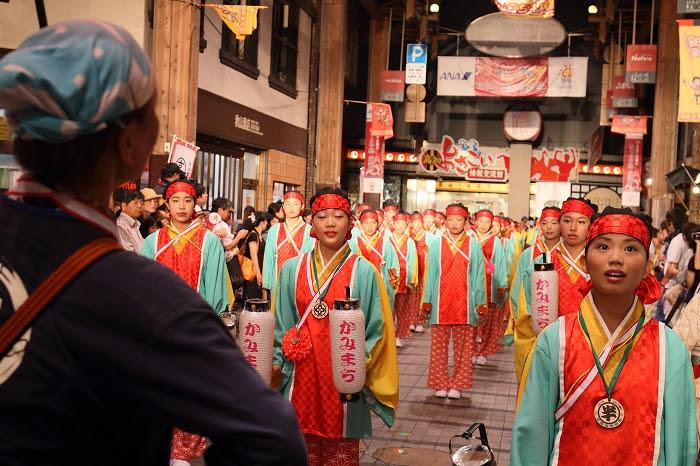 第61回よさこい祭り☆本祭2日目・はりまや橋競演場2☆上1目1408