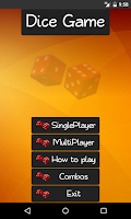 Screenshot of Dice Game