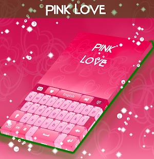 Pink Love Keyboard Theme - screenshot