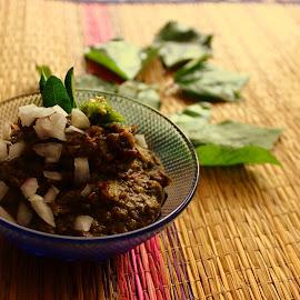 Gongura by Lakshmi Sharoff - Food & Drink Cooking & Baking ( food, food shots, eating, food photography, cooking )