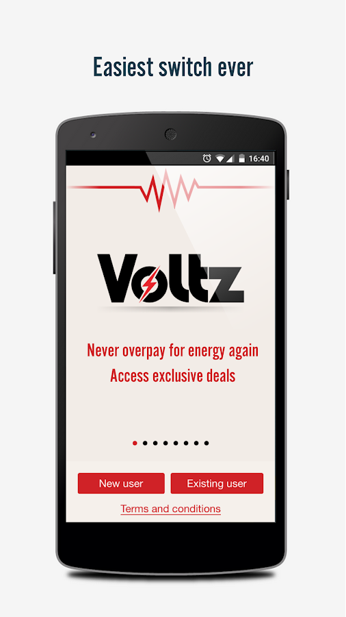 Voltz - energy switching app Screenshot