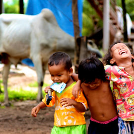 Pure Joy by Abby Portman - People Street & Candids ( #cambodia, #siemreap, #laughing, #candid, #kids )