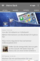 Screenshot of Meine Bank