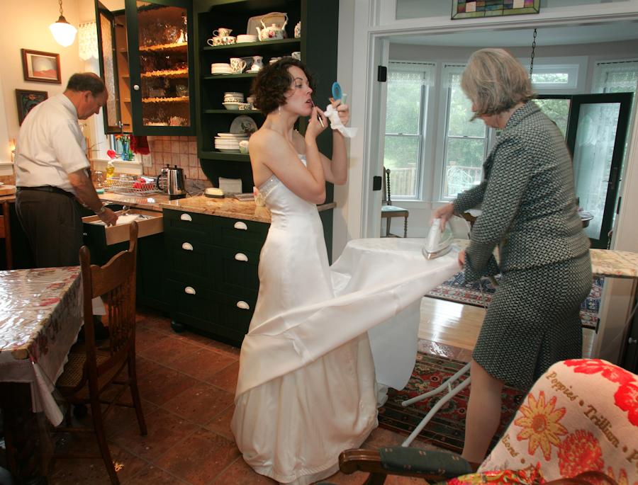 by Alan  Weiner - Wedding Getting Ready