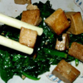 Marinated Tofu Recipe With Spinach