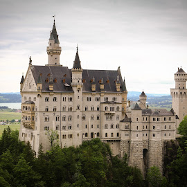 Neuschwanstein Castle by Natalia Dobrescu - Buildings & Architecture Public & Historical ( building, scape, vista, castle, historical, architecture, landscape, neuschwanstein castle, panorama, photography )