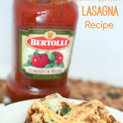 Slow Cooker Lasagna Recipe with Bertolli Sauce