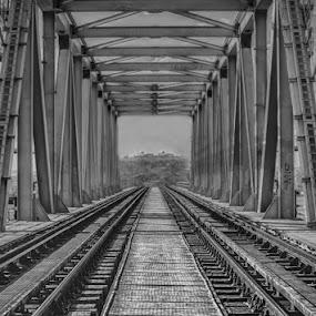 THE BRIDGE by Adrian Penes - Buildings & Architecture Bridges & Suspended Structures ( structure, arhitecture, black & white, romania, bridges, constanta )