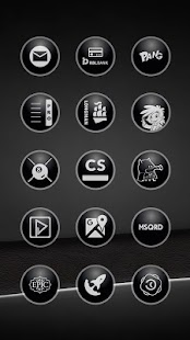 Glossy Black Icons - screenshot