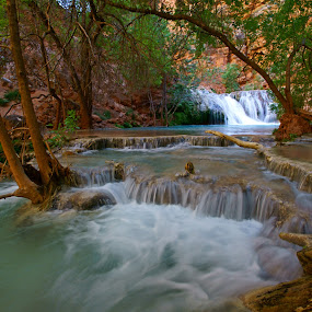 Beaver Falls Travertine Pools by Justin Giffin - Landscapes Waterscapes ( water, waterfalls, nature, havasupai, arizona, landscape, travertines,  )