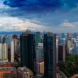 The two towers by Azizan  Ishak - City,  Street & Park  Skylines ( skyline, malaysia, cityscape, kuala lumpur, city )