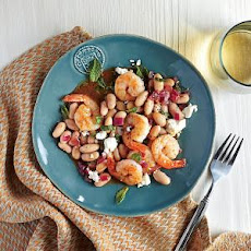 Roasted Shrimp with White Beans and Feta