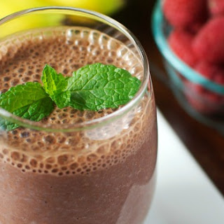 Chocolate-Banana-Raspberry Breakfast Drink