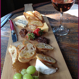 Cheese Board at Grace Winery by Sue Baxter Fitz - Food & Drink Meats & Cheeses