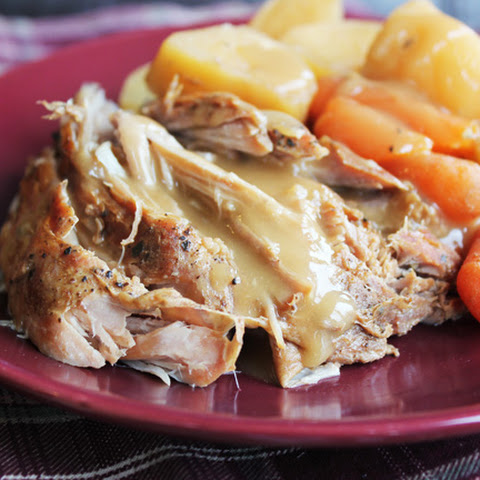 Crock Pot Pork Roast with Vegetables and Gravy (Renewed)