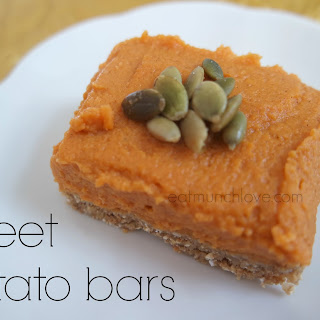 No Bake Sweet Potato Bars (gluten Free, Vegan, Refined Sugar Free)