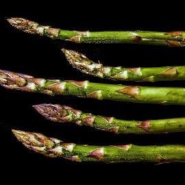 Different by Janez Šturm - Food & Drink Fruits & Vegetables ( green, wet, asparagus, five, food )