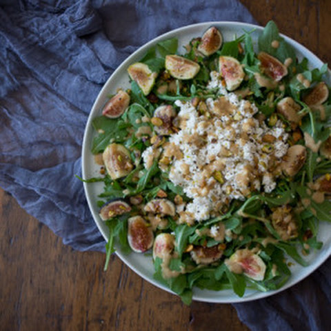 Fig Goat Cheese Salad with Fig Vinaigrette