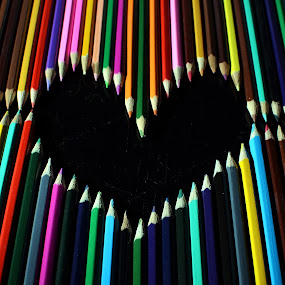 love in color by Herry Wibisono - Artistic Objects Other Objects ( love, pencil, color, art, object )