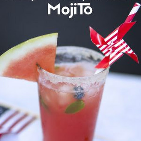 Red, White, and Blue Mojitos