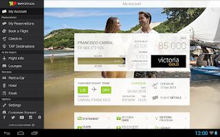 Screenshot of TAP Portugal