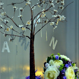 Wedding guest book tree by Nic Scott - Wedding Other ( tree, wedding bouquet, decoration, wedding, guest signing )