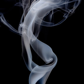 Sassy Woman by Kate Anthony - Abstract Fine Art ( black background, smokey, art photography, smoke photography, smoke )