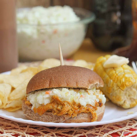 Pulled Chicken Sandwiches with Homemade BBQ Sauce