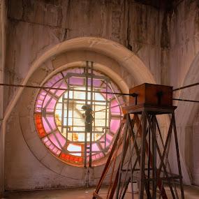 FSS CLOCK by Adam Visscher - Buildings & Architecture Public & Historical ( architecture clock historical melbourne victoria australia )