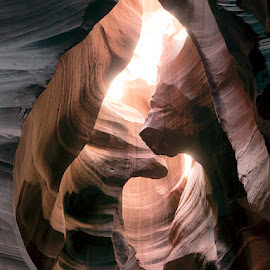 Antelope Canyon by Tobias Andersson - Landscapes Caves & Formations ( red, waves, arizona, canyon, cave, antelope canyon, rocks, sun rays )