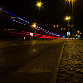 Tracing Lines by Adriano Freire - Abstract Light Painting ( tracing, street, lines, lisbon, light )