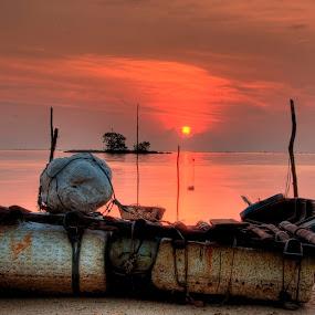 My Boats by Ji Pan - Transportation Boats ( hdr, pwrcredscape, sunrise )