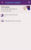 Screenshot of SNS Mobiel Bankieren