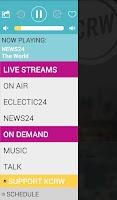Screenshot of KCRW Radio