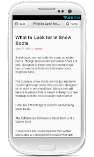 Womens snow boots - screenshot