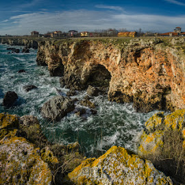 Tyulenovo, Bulgaria by Krasimir Lazarov - Landscapes Caves & Formations ( black sea, tyulenovo, cliffs, village, waterscape, caves, sea, tourism, rocks, formation, bulgaria )