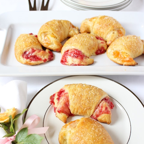 Creamy Fruit Brunch Crescents