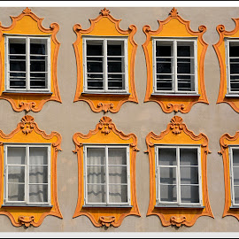 Windows by Andrea Macherelli Bianchini - Buildings & Architecture Architectural Detail ( yellow, artistic, window, history, windows, europe, building )