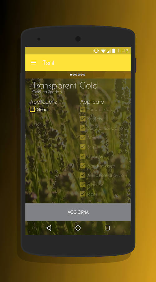 Transparent Gold - CM13 Theme Screenshot 7